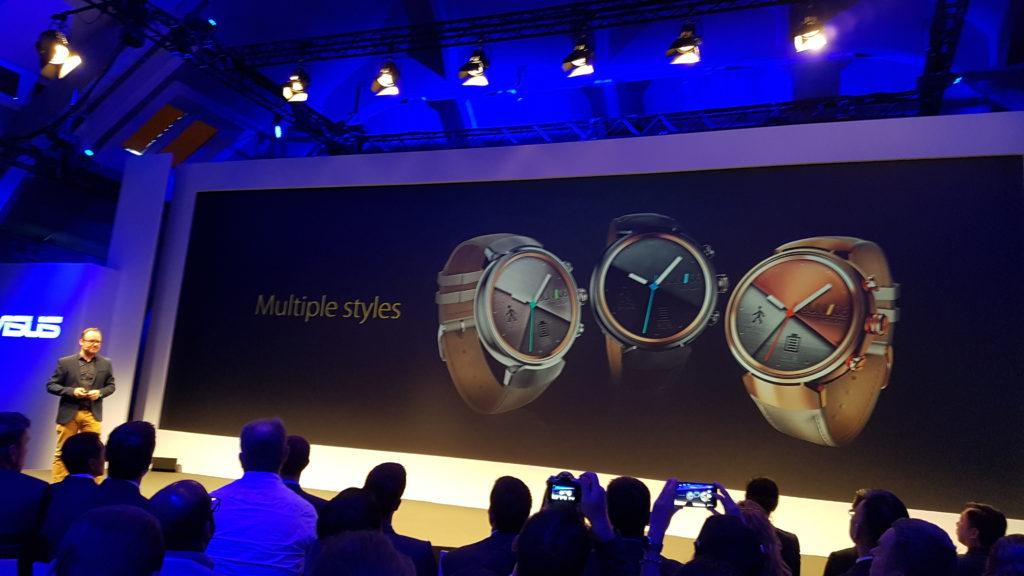 Asus je uro zenwatch 3 postavil v središče predstavitve.