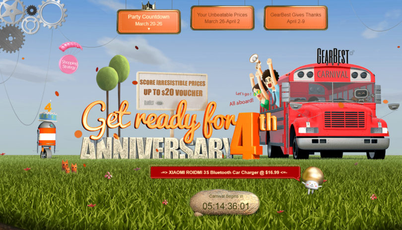 Posebni popusti ob četrti obletnici trgovine Gearbest