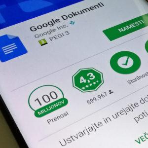 Ribarjenje v Google Docs dalo novo lekcijo ponudniku in uporabnikom