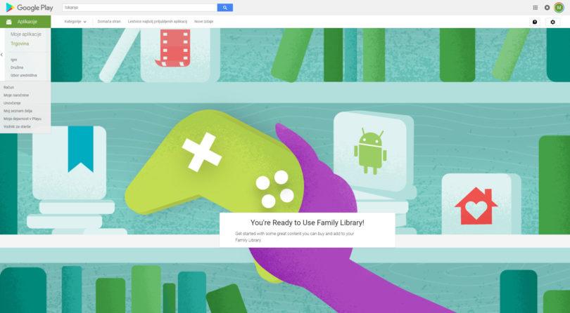 Googlova družina za aplikacije, vsebine in oblak