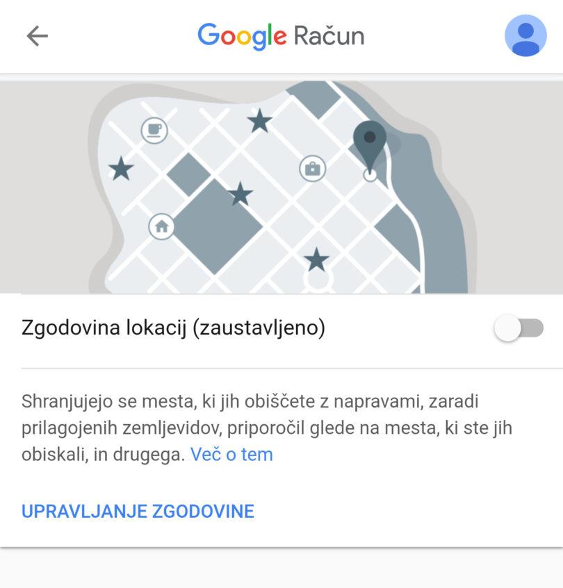 Potrošniške organizacije: Google z zbiranjem lokacijskih podatkov krši GDPR