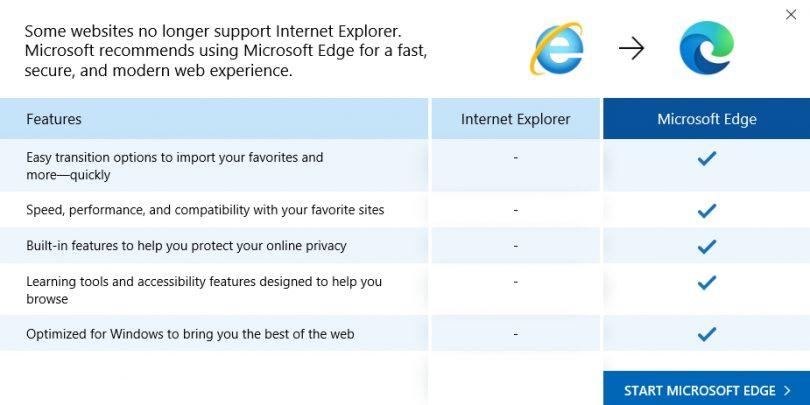 Microsoft pošilja Internet Explorer v pokoj
