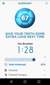 Tako izgledajo rezultati po umivanju pod nadzorom kamere na telefonu.