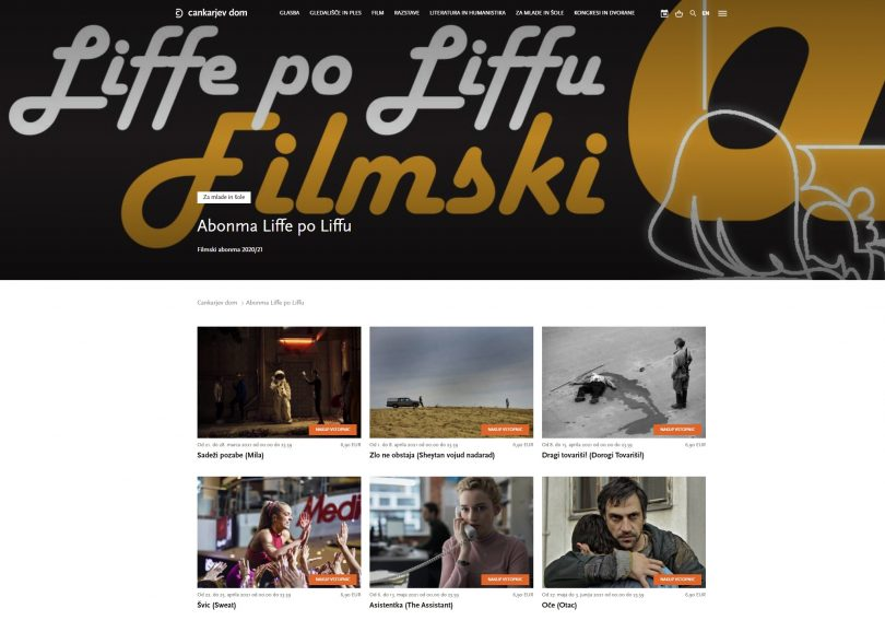 Filmi abonmaja Liffe po Liffu na spletu in v Telekomovi videoteki DKino