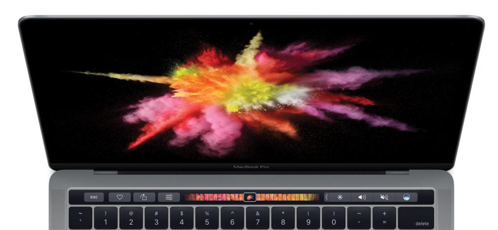 Trak na dotik pri novem Macbooku Pro. Foto Apple