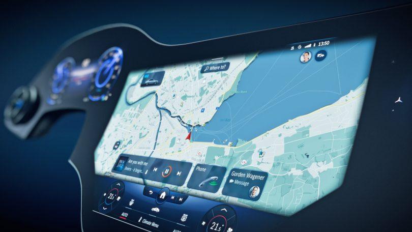 Mercedesovih 141 cm zaslonov za električnega EQS