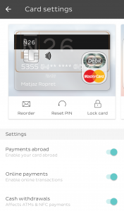 Vse nastavitve kartice je mogoče preprosto urejati v aplikaciji.