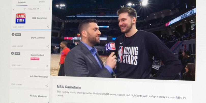 A1 je še pravi čas pred tekmo zvezd dodal televizijski program NBA TV