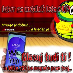 Glasuj za mobilnik leta in osvoji telefon Wiko!