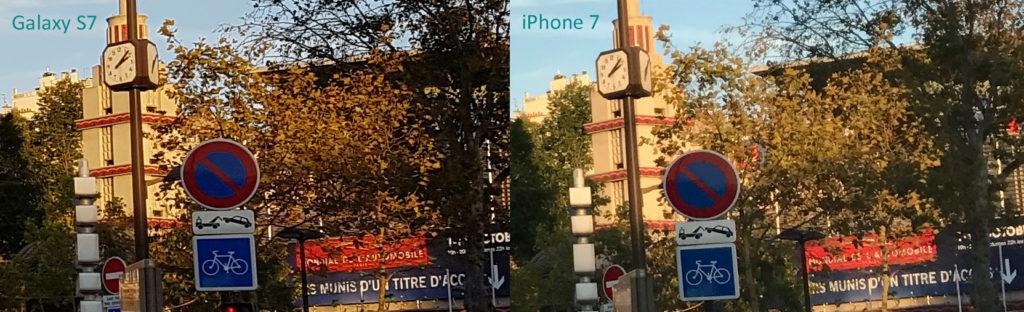 Povečava razkrije, da podrobnosti pri iPhonu lahko razpadejo v pastel.