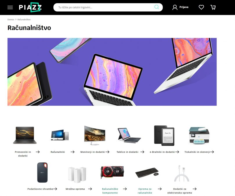Telekomov PIAZZ združuje iskalnik cen in spletno trgovino