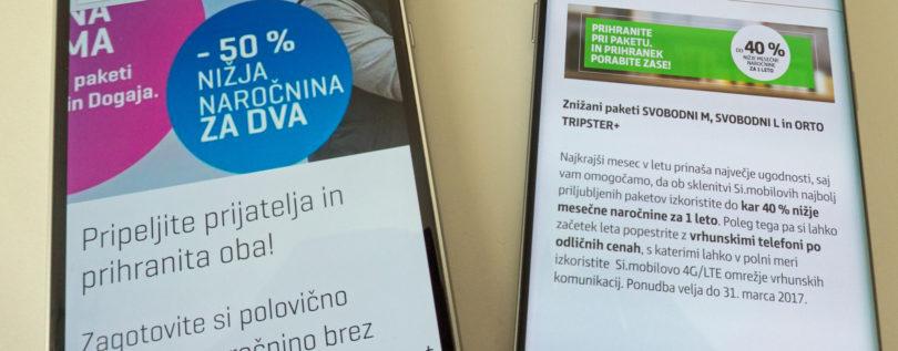 Je smiselno izkoristiti akciji Telekoma in Simobila?