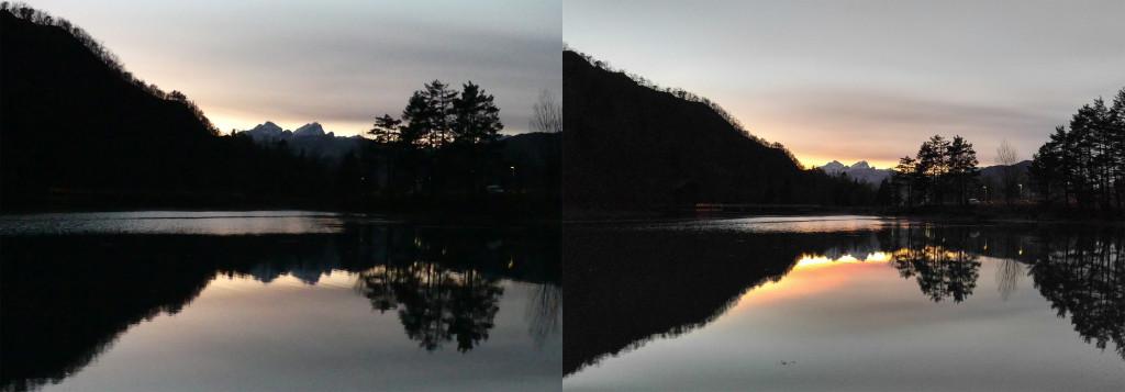 Fotografija, posneta s tablifonom LG v10 (desno) je po večini kriterijev boljša, kot tista, ki jo je naredil fotoaparat panasonic fz300.