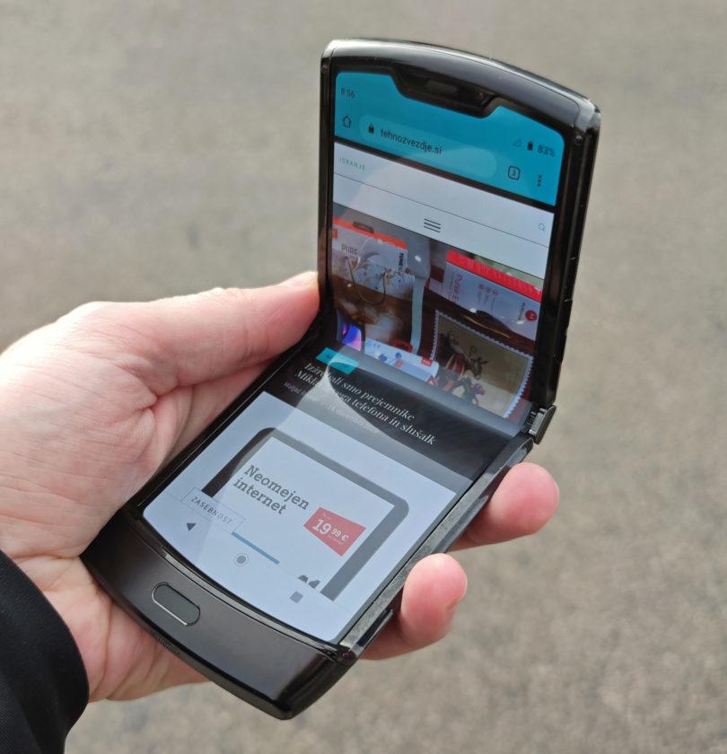 Motorola Razr 2019 – Prvi vtisi o preklopnem telefonu s prepogljivim zaslonom
