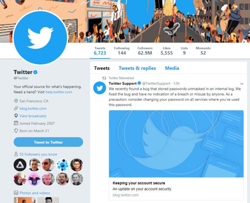 Twitter je videl tvoje geslo, zato ga raje spremeni