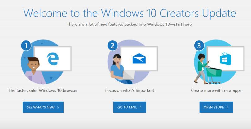 Windows 10 Creators Update je že na voljo za namestitev