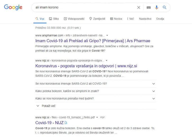 Bo vsaj nekaj koristi od dr. Googla?