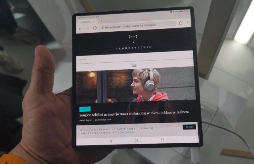 Huawei Mate Xs; izboljšan, drag in Google »free« (#VIDEO)