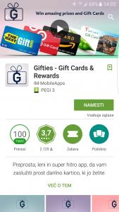 Aplikacija gifties preži na osebne podatke naivnih uporabnikov.