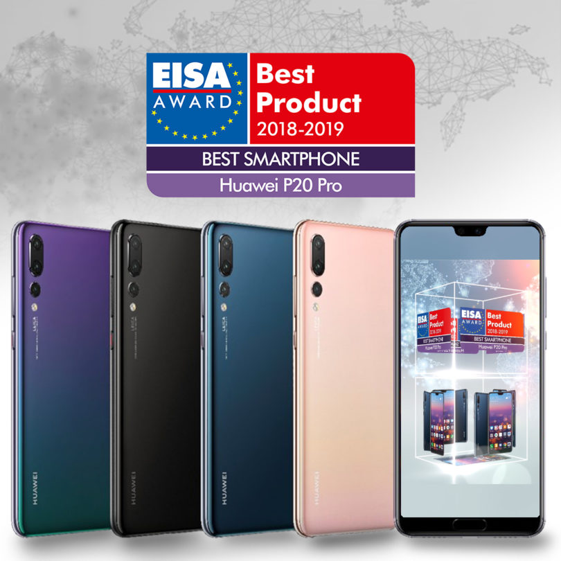 "Huawei prejel nagrado EISA ""Best Smartphone of the Year"" za Huawei P20 Pro"