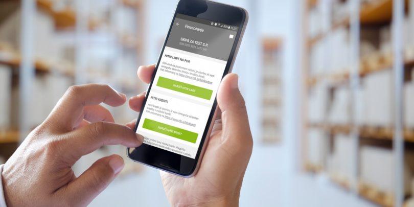 Do denarja za podjetje takoj v mobilni banki Klikpro