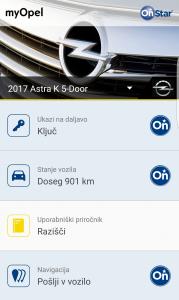 V aplikaciji so tudi nekatere informacije o avtu in opravljenih poteh.