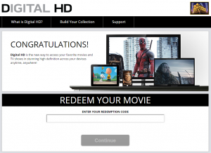 Ob filmu na ploščku se kupec sprva razveseli še kode za digitalno različico.